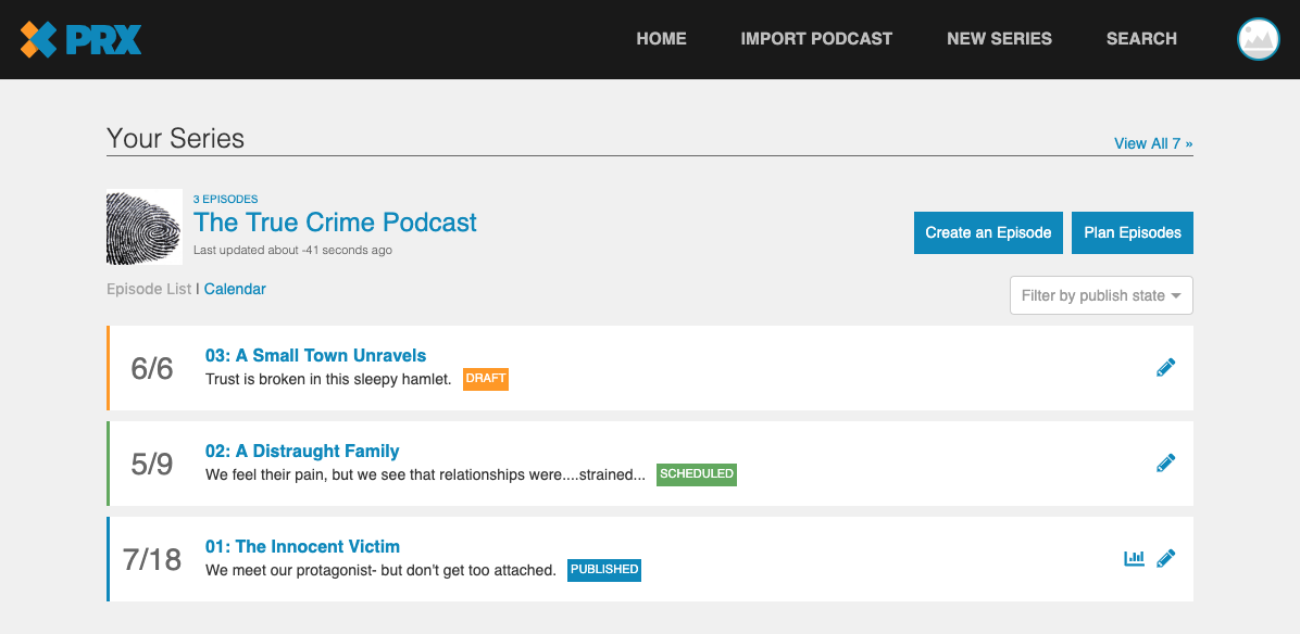 Episode Calendar.Can You Walk Me Through The New Production Calendar View In Publish